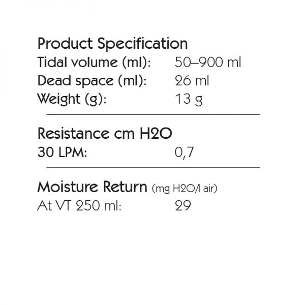 Spec HME 10 Port 2, Tidal Volume: 50-900 ml. 6065