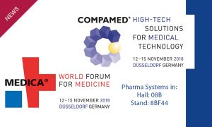 Visit Pharma Systems at MEDICA – COMPAMED Düsseldorf 12-15 November 2018