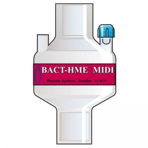 Bact HME Midi Port. Tidal volume (ml): 100–1200 ml.