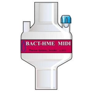 Bact HME Midi Port. Tidal volume (ml): 100–1200 ml.