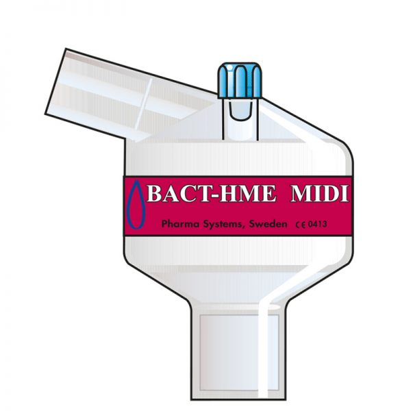 Bact HME Midi Port Angle. Tidal volume (ml): 100–1200 ml.
