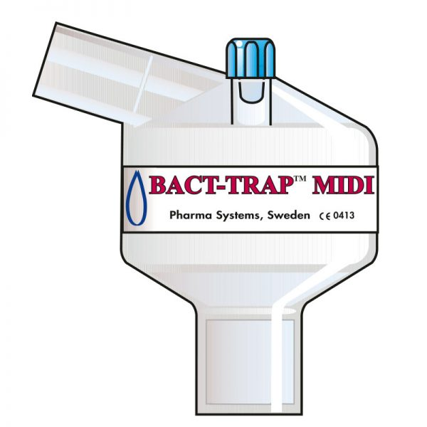 Bact Trap Midi Port Angle. Tidal volume (ml): 100–1200 ml.