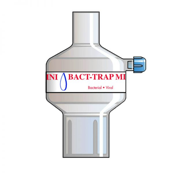 Bact-Trap Mini Port. Tidal volume (ml): 50–900 ml.