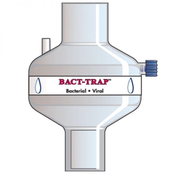 Bact Trap Port. Tidal volume (ml): 150–1500 ml.