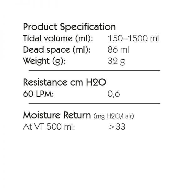 Spec HME 12 Basic, Tidal Volume: 150–1500 ml. 6070