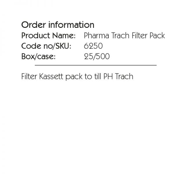 6250b Pharma Trach Filter Pack. Heat and moisture exchanger intended for tracheotomized spontaneously breathing patients. Recommended for respiratory care, ENT, Emergency and Home Care.