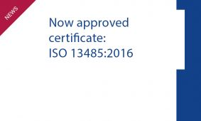 We have new certificate ISO 13485:2016.